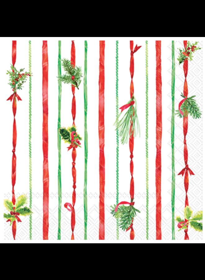 Cocktail Napkin - Ribbon Stripe