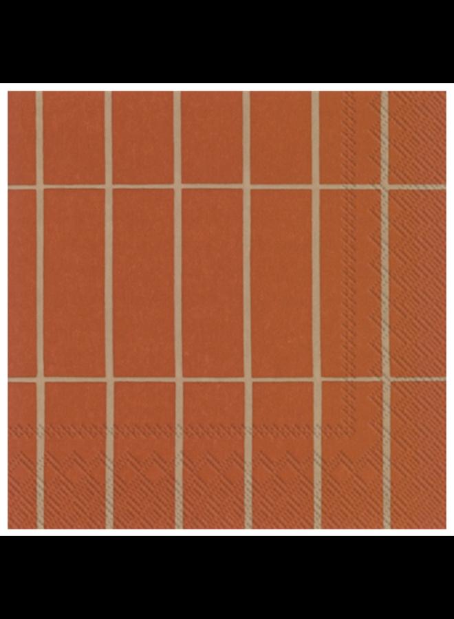 Cocktail Napkin - Marimekko Tiiliskivi Copper Linen