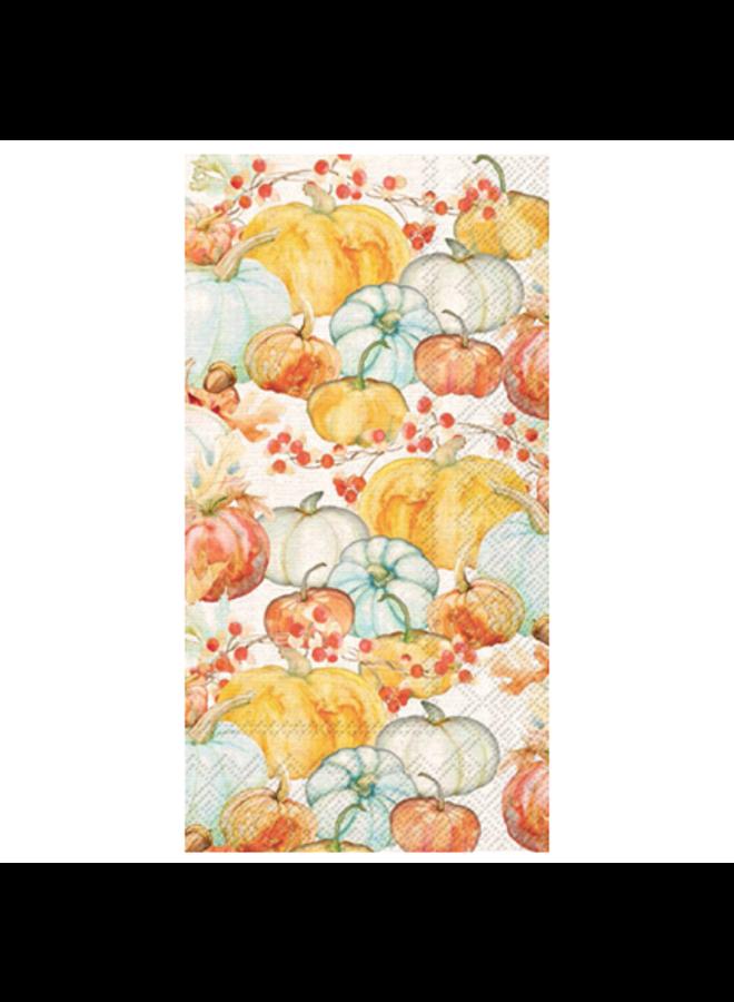 Guest Towel - Watercolor Pumpkins