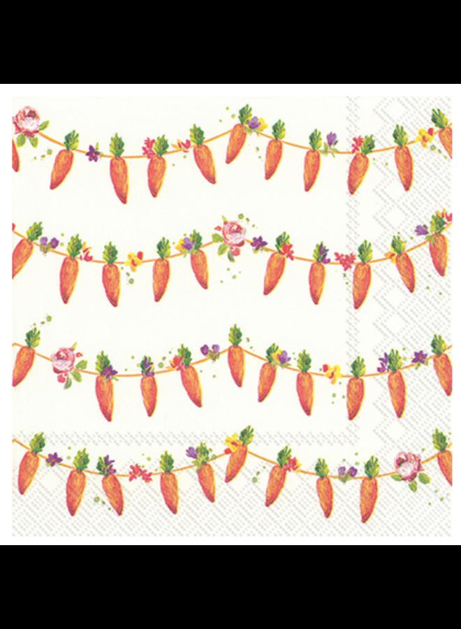 Luncheon Napkin - Carrots Garland