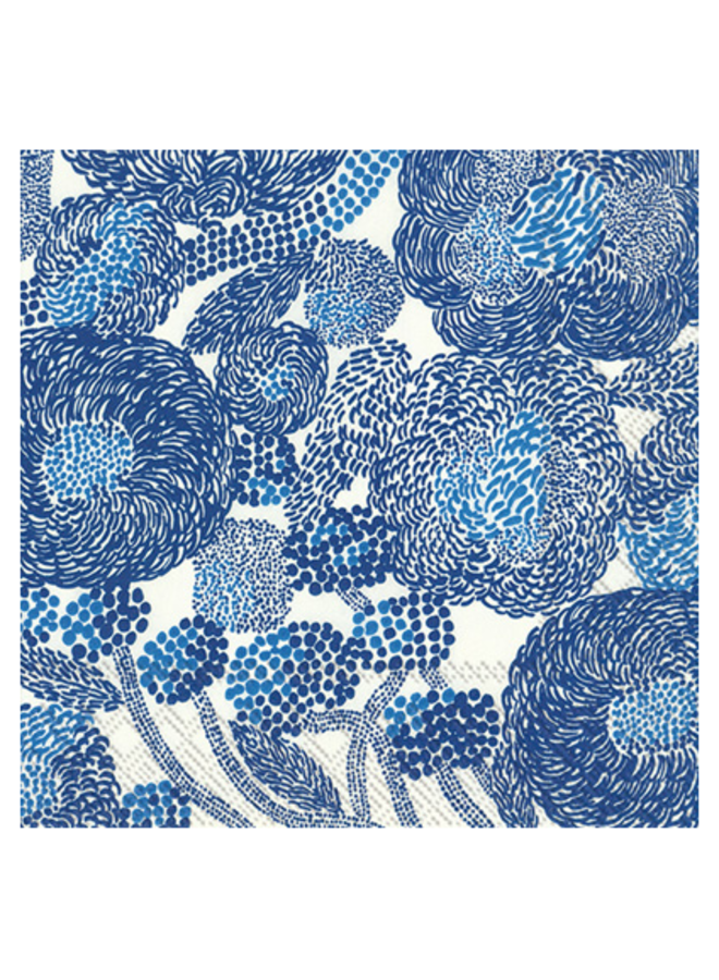 Luncheon Napkin - Marimekko Mynsteri Cream/Blue