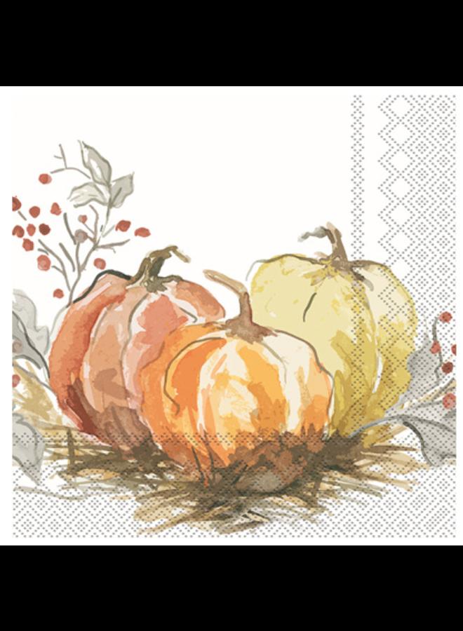 Luncheon Napkin - Painted Pumpkin