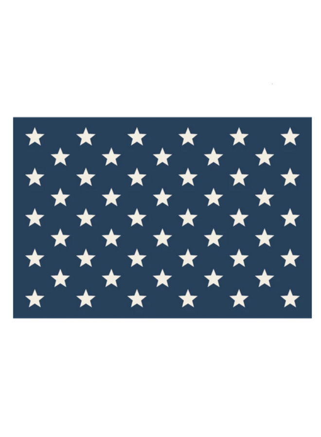 Placemat Stars on Blue