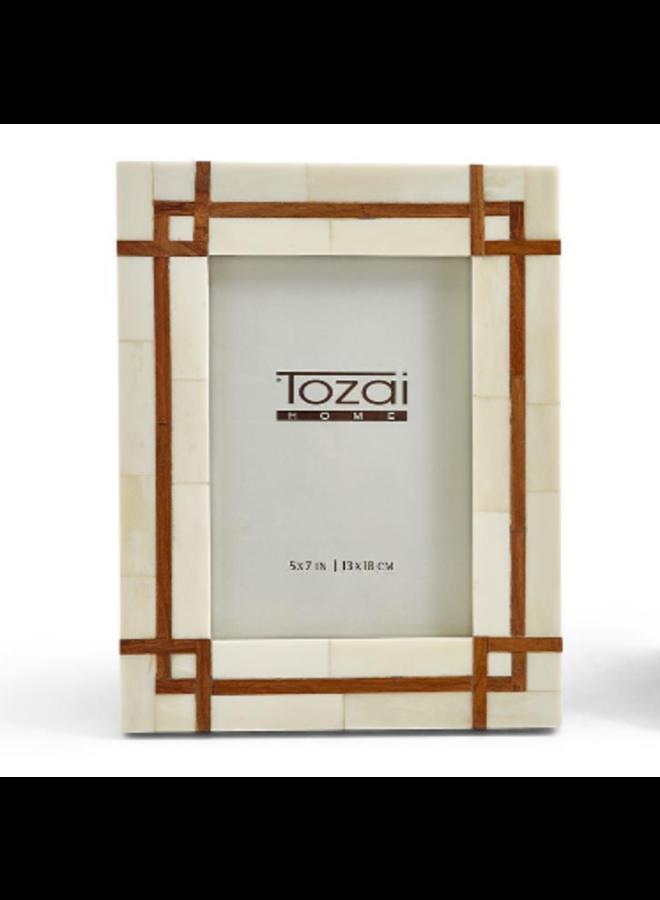 Bordered Wood Inset Frame