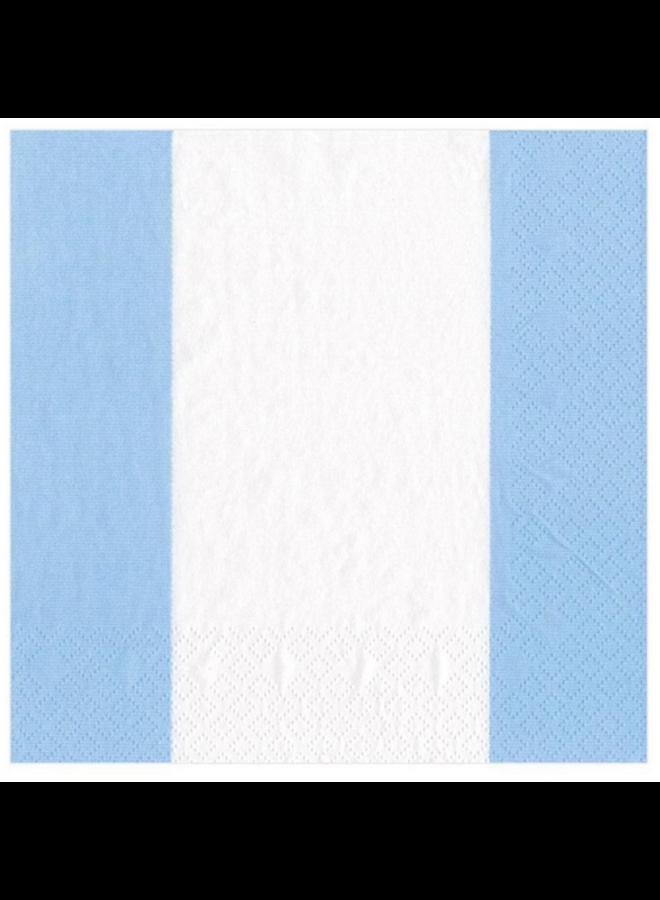 Luncheon Napkin - Bandol Stripe Light Blue