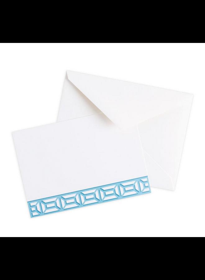 Correspondence Card - Garden Gate French Blue