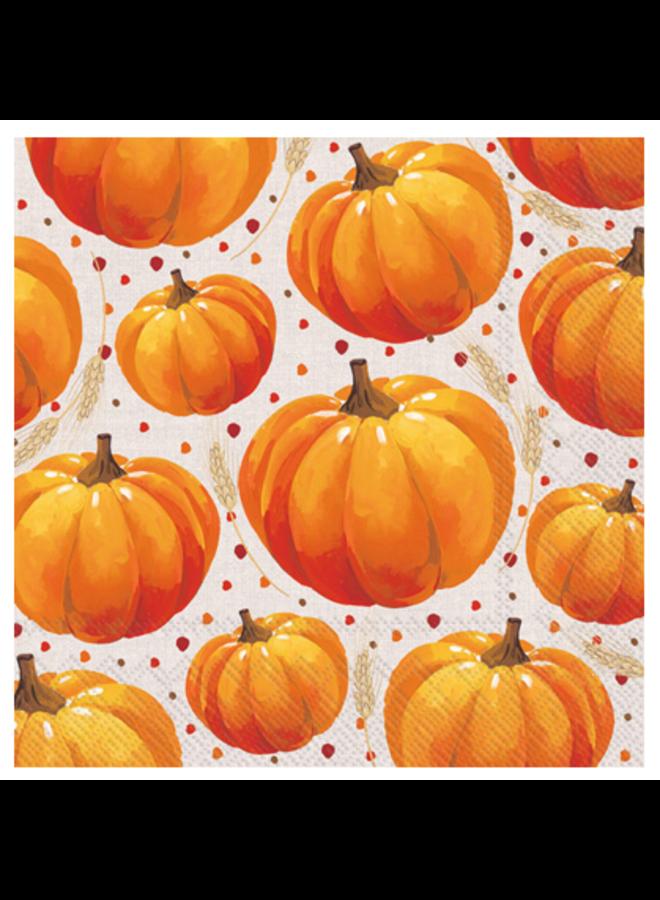 Cocktail Napkin - Pumpkin Allover