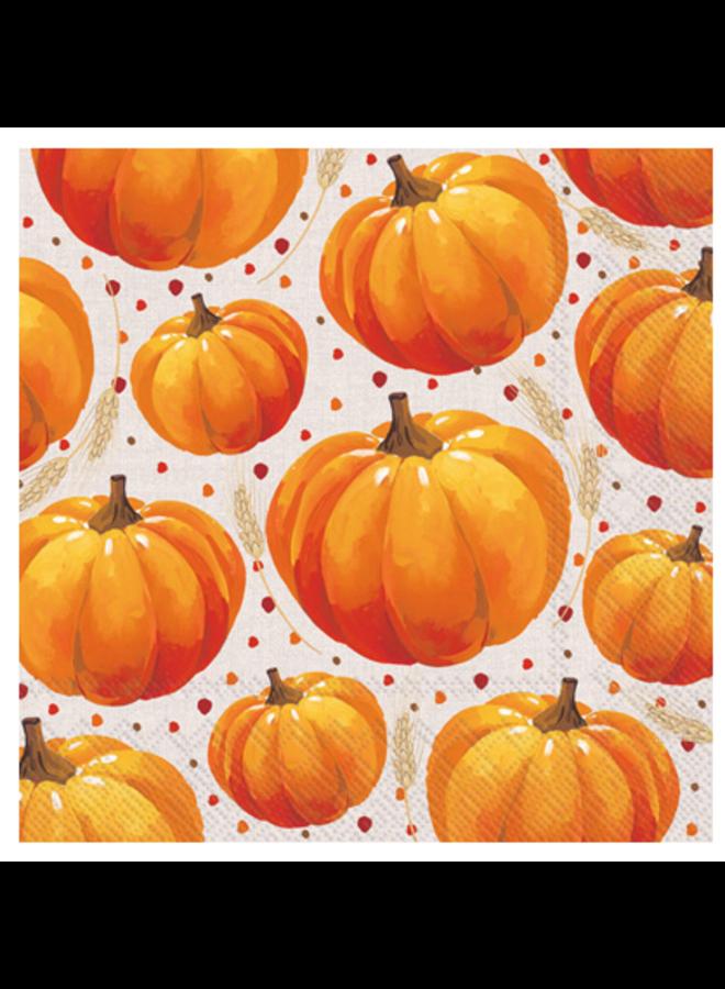 Luncheon Napkin - Pumpkin Allover