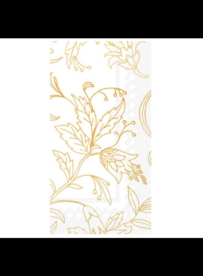 Guest Towel - Golden Flower White/Gold