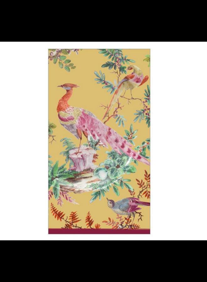 Guest Towel - Chelsea Birds Gold