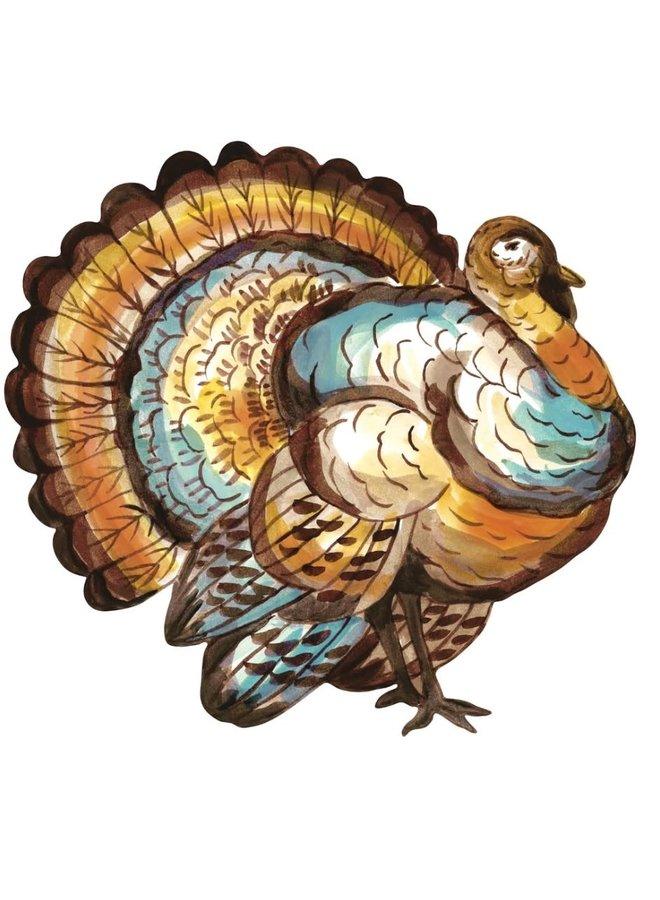 Die-Cut Placemat Thanksgiving Turkey