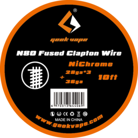 GeekVape N80 Fused Clapton NiChrome Wire