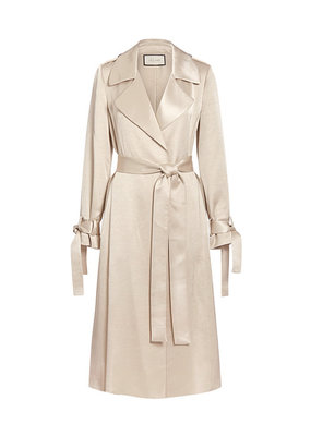 Jocasta Satin Trench Coat
