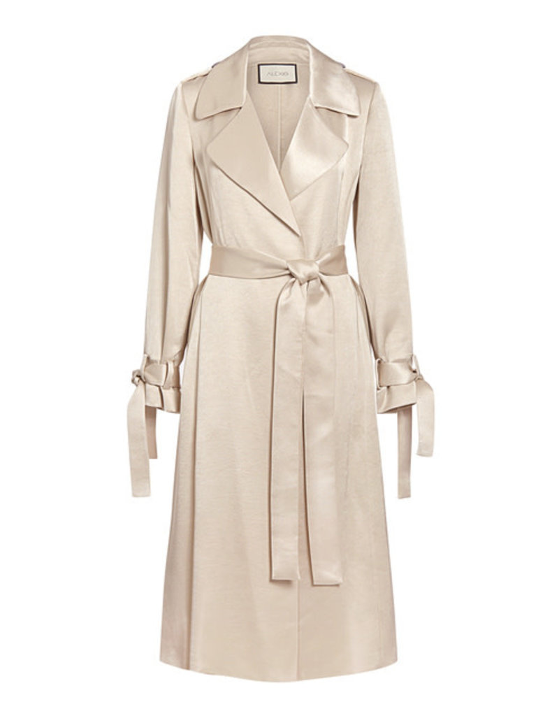 Michelle Mason Jocasta Satin Trench Coat