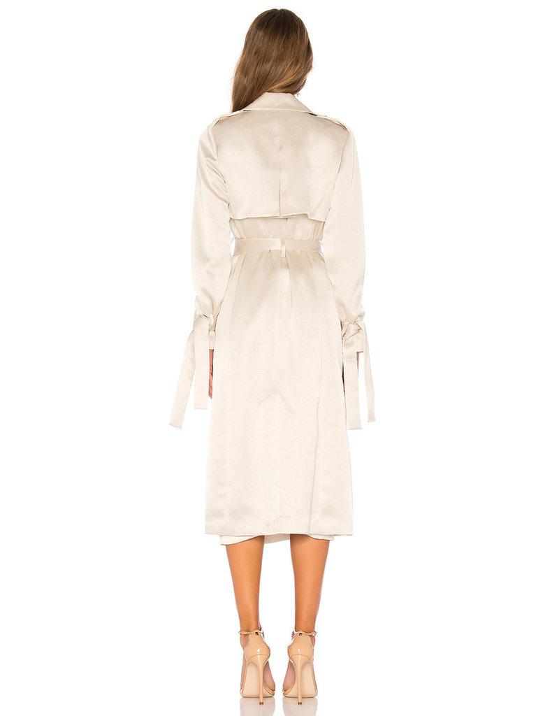 Michelle Mason Jocasta Satin Trench Coat