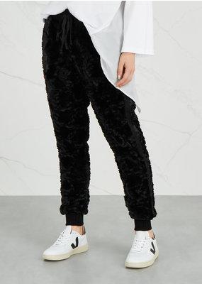 Faux Fur Track Pants