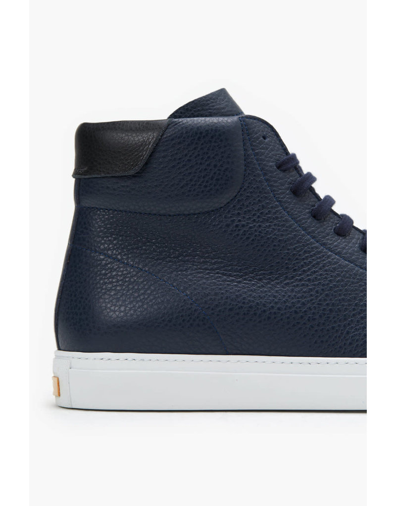 Closed Navy High Top Nappa Leather Sneakers