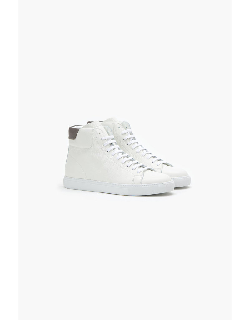 Closed White High Top Nappa Leather Sneaker