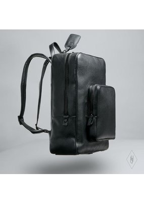 H.L. James Onyx Backpack with Black hardware