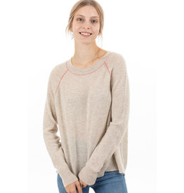 Paychi Guh Airy textured cashmere crew