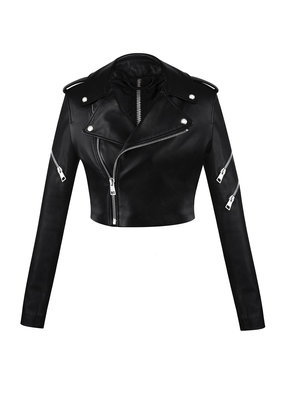 Manokhi Zipper cropped jacket