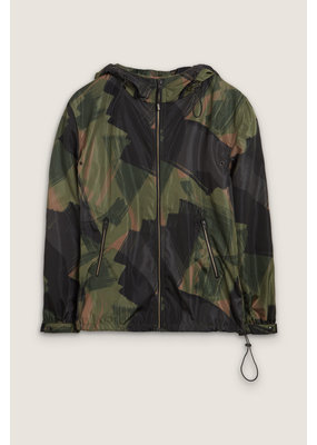 Closed Hooded Windbreaker