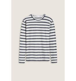 Closed Long-Sleeve Stripe Top