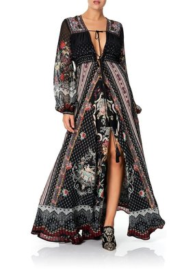 Camilla Peasant Maxi Dress