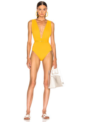 Nicholas Plunge Ruched One Piece