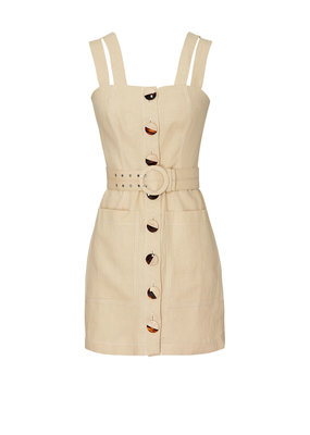 Nicholas Button Front Double Strap Dress