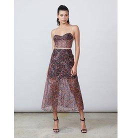 Allen Schwartz Eden lace bustier dress