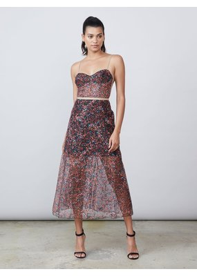 Allen Schwartz Eden lace bustier dress