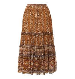 Ulla Johnson Thea lurex blend midi skirt
