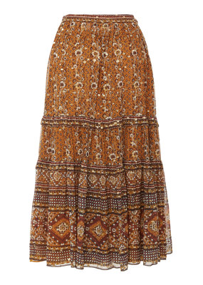 Ulla Johnson Thea lurex blend midi skirt