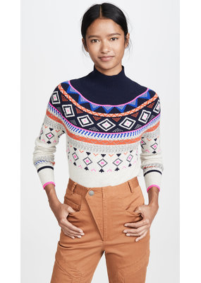Autumn Cashmere Fair Isle Mock Neck