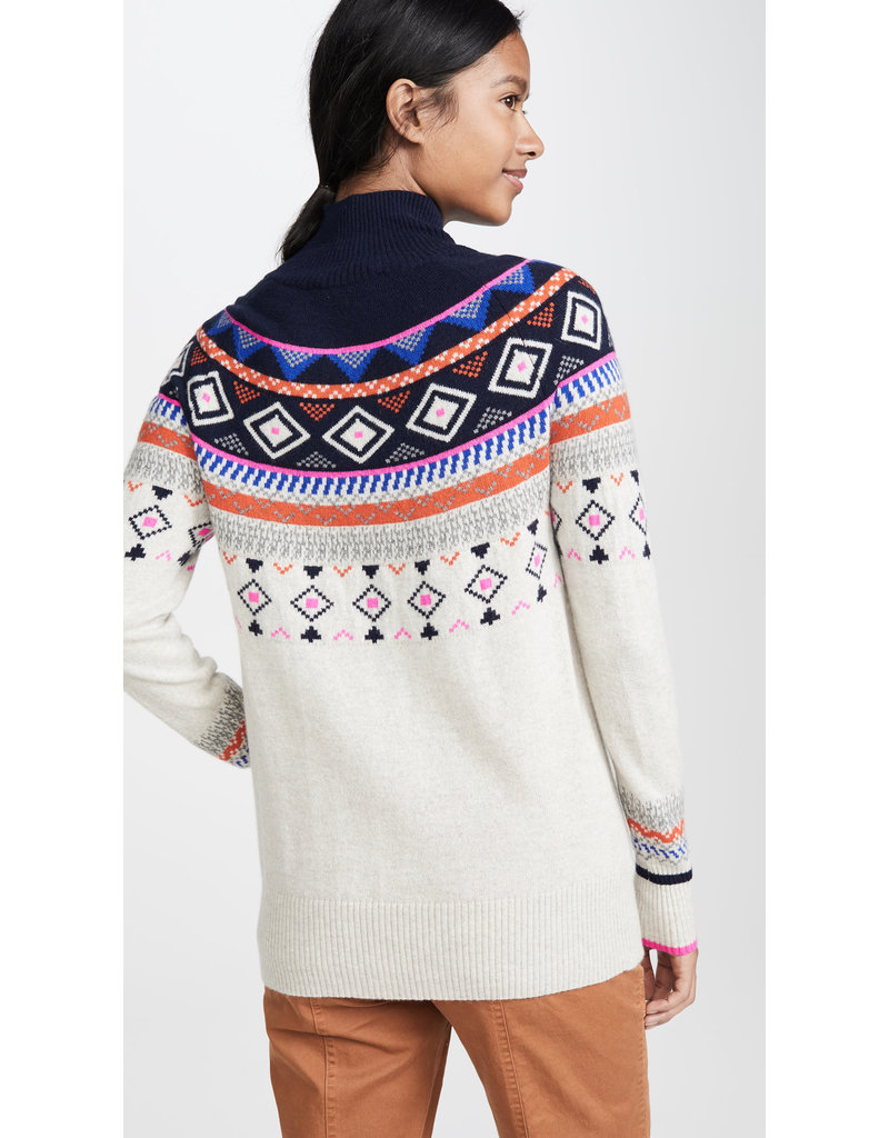 Autumn Cashmere Autumn Cashmere Fair Isle Mock Neck