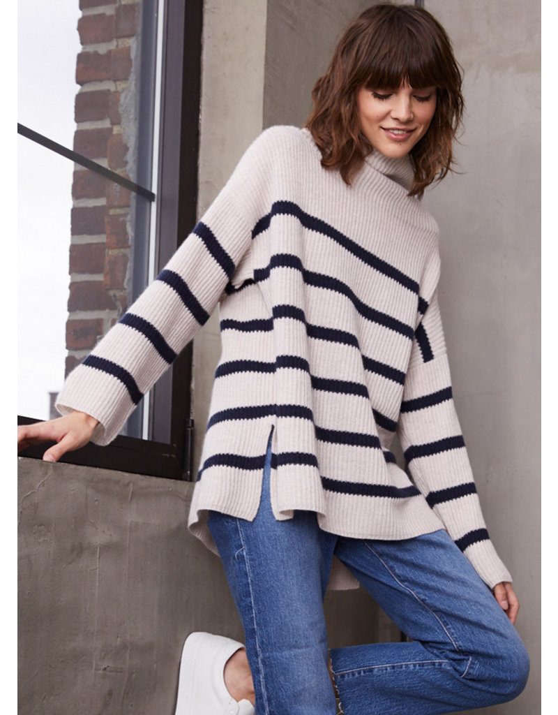 Autumn Cashmere Autumn Cashmere Breton Stripe Funnel