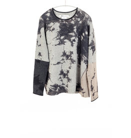 Paychi Guh Printed block crew sweater
