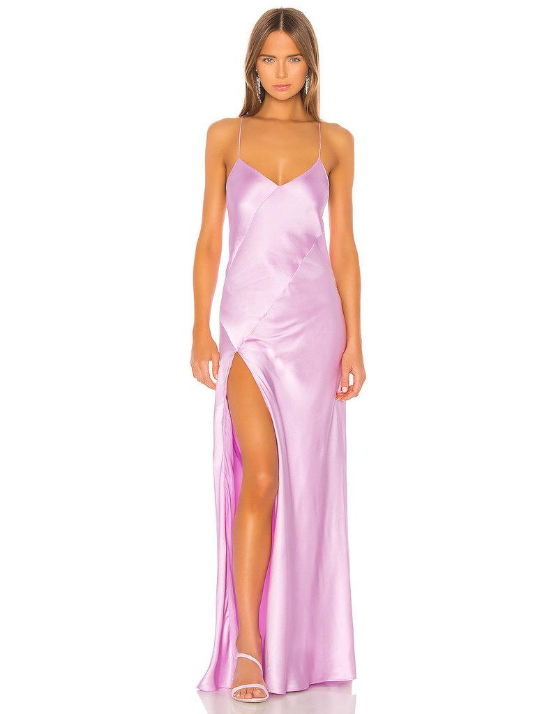 Michelle Mason Michelle Mason Bias gown with slit