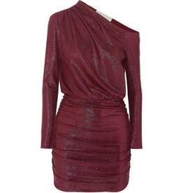 Michelle Mason One shoulder mini dress