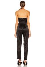 Michelle Mason Michelle Mason Strapless plunge jumpsuit