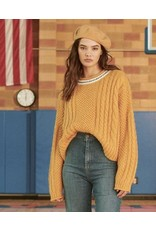 The Great The Great Cable roll pullover