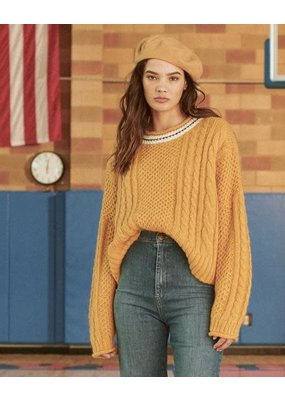 The Great Cable roll pullover