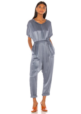 Raquel Allegra Pebble Satin Jumpsuit