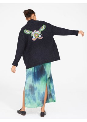 Raquel Allegra Tapestry shawl collar cardigan