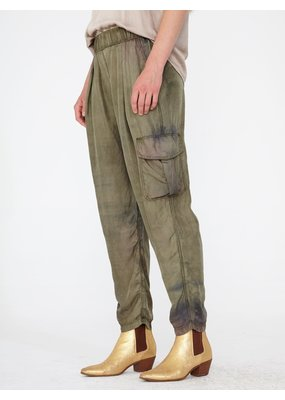 Raquel Allegra Easy cargo army silk pant