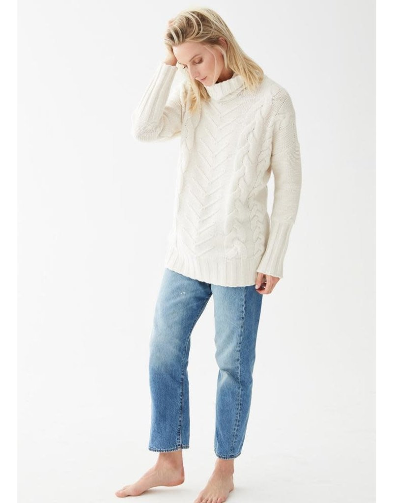 Not Monday Not Monday James Cable Knit Pullover