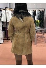 Di Bello Di Bello Merino shearling with fox fur