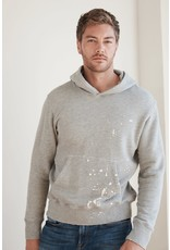 Velvet Velvet Long-sleeve splatter hoodie