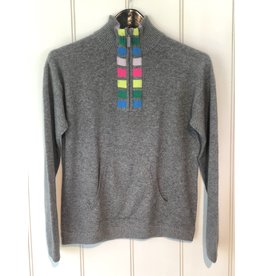 Threads of Privilege Cashmere stripe half-zip